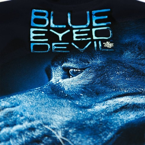 Bluza Z Kapturem BLUE EYED DEVIL X Granatowa