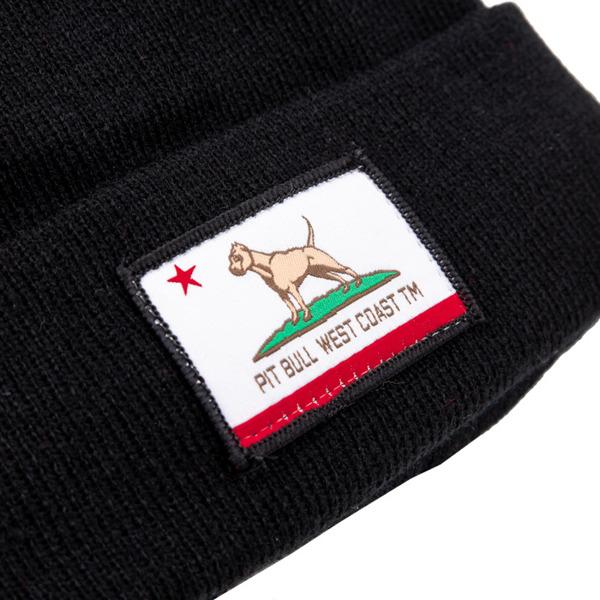 Czapka Pit Bull Beanie CALIFORNIA DOG Czarna