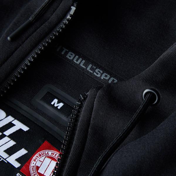 Pit Bull Bluza rozpinana z kapturem LANDIS Czarna
