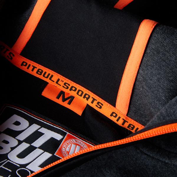 Pit Bull Bluza rozpinana z kapturem LOGAN Grafitowa