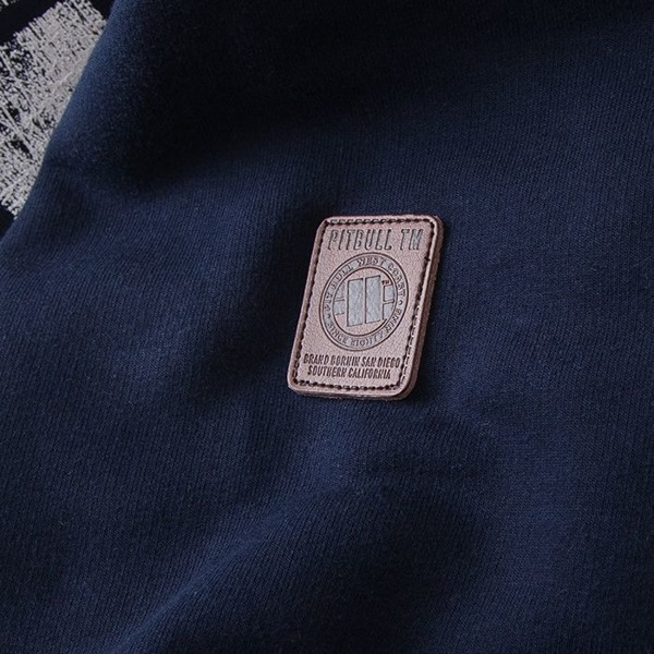 Pit Bull Bluza z kapturem CLASSIC LOGO Granatowa