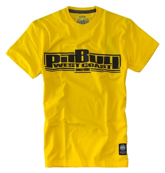 Pit Bull Koszulka Basic Żółta