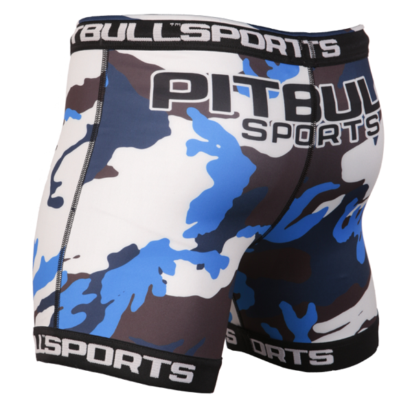 Pit Bull Spodenki treningowe Vale Tudo CAMO Niebieskie