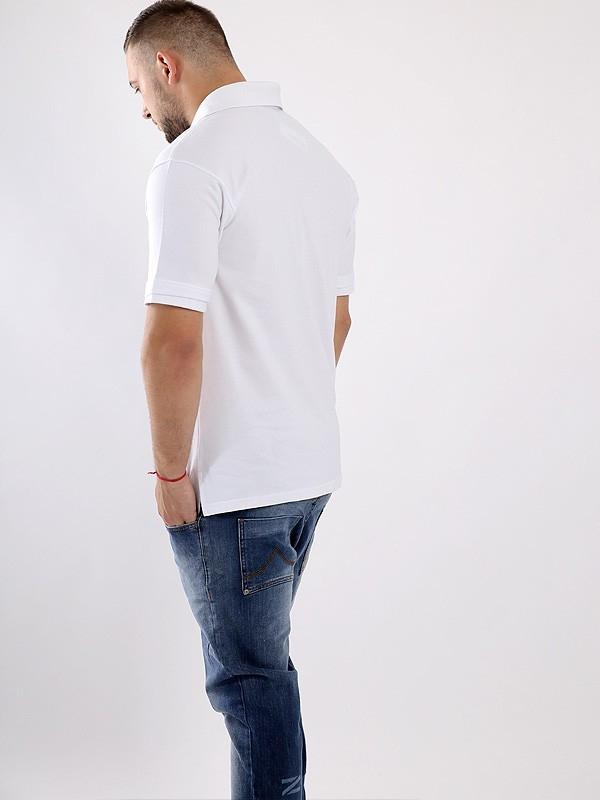 Stoprocent Koszulka Polo Tag16 Białe