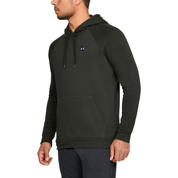 Under Armour Bluza z kapturem RIVAL FLEECE PO HOODIE Zielona