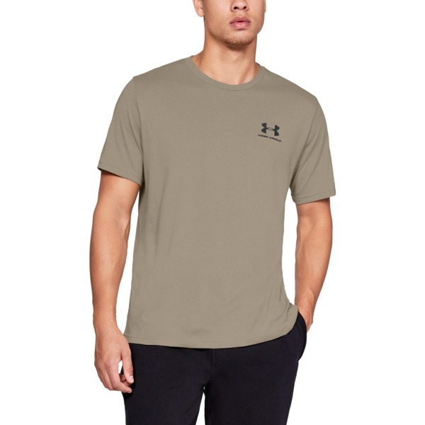Under Armour Koszulka SPORTSTYLE LEFT CHEST SS Brązowa