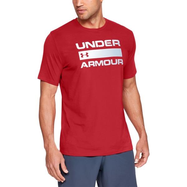 Under Armour Koszulka TEAM ISSUE WORDMARK Czerwona