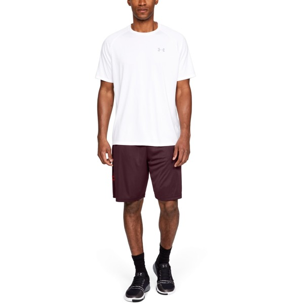 Under Armour Spodenki UA TECH GRAPHIC SHORT Bordowe